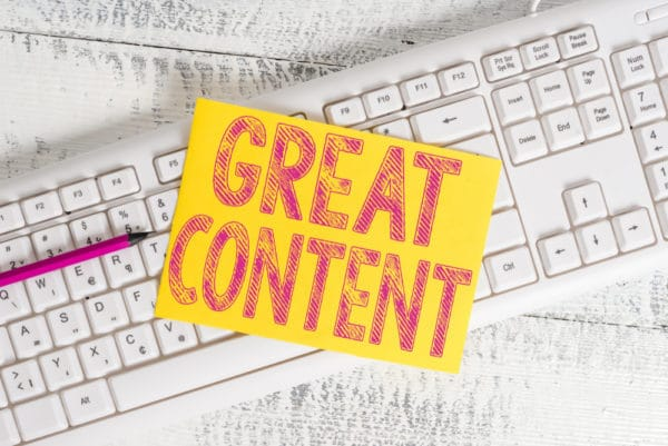 Create great content