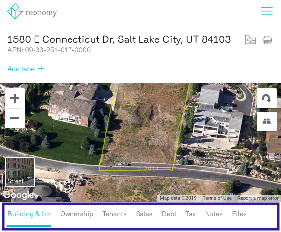 Reonomy Salt Lake City Vacant Land Parcel