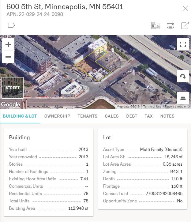 Reonomy Multifamily Property Profile