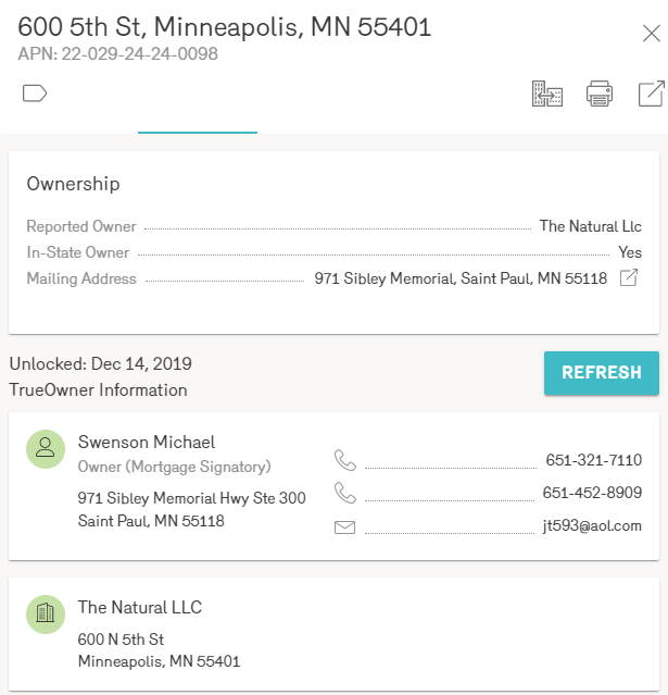 Reonomy Property Owner Information