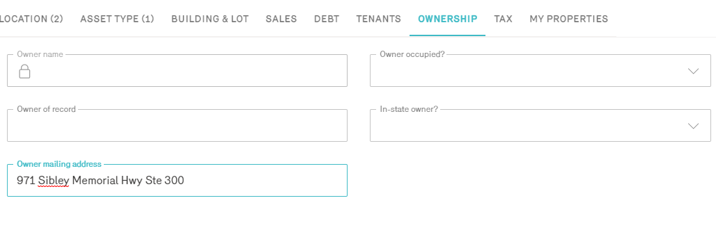 Reonomy Multifamily Property Owner Search by Address